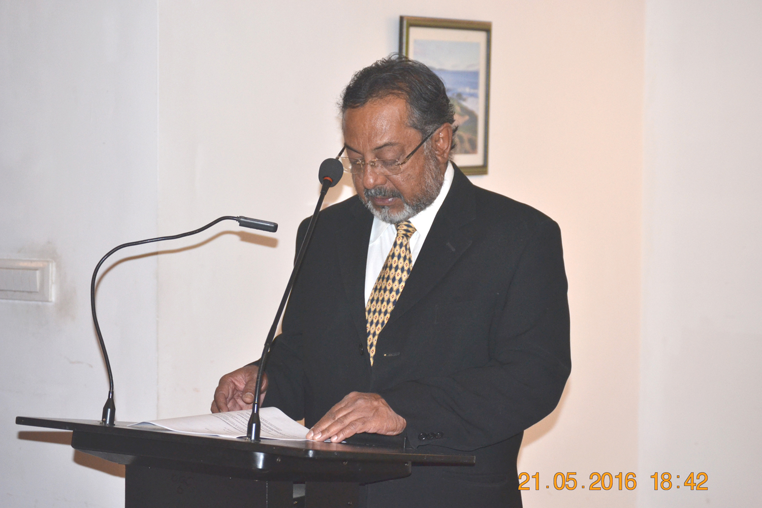 Mr.M.P.George, Golf Capatain Speech
