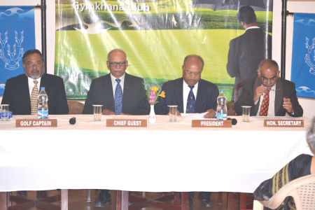 Golf Captain M.P.George, Chief Guest - J.Vikram Dev Rao, T.Gundan - President, K.Krishnakumar - Honorary Secretary